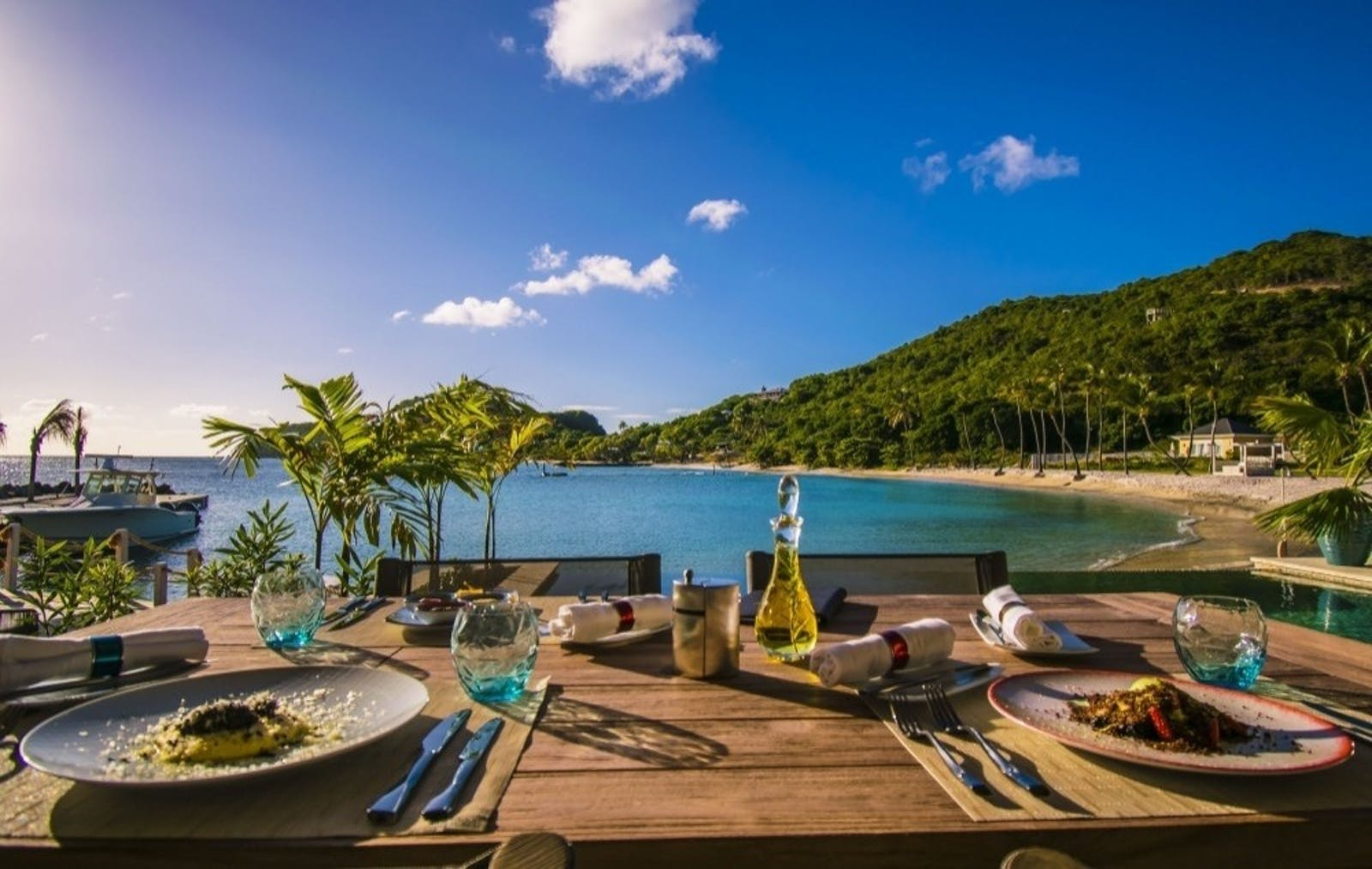 Dining Area at The Liming, St Vincent & The Grenadines, Caribbean
