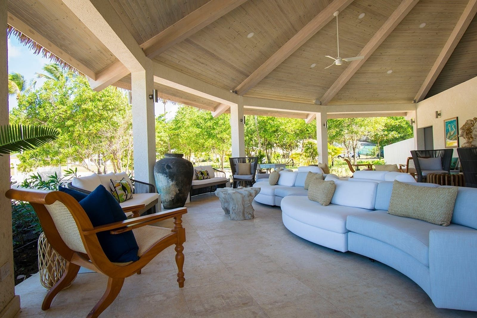 Lounge Area at The Liming, St Vincent & The Grenadines, Caribbean
