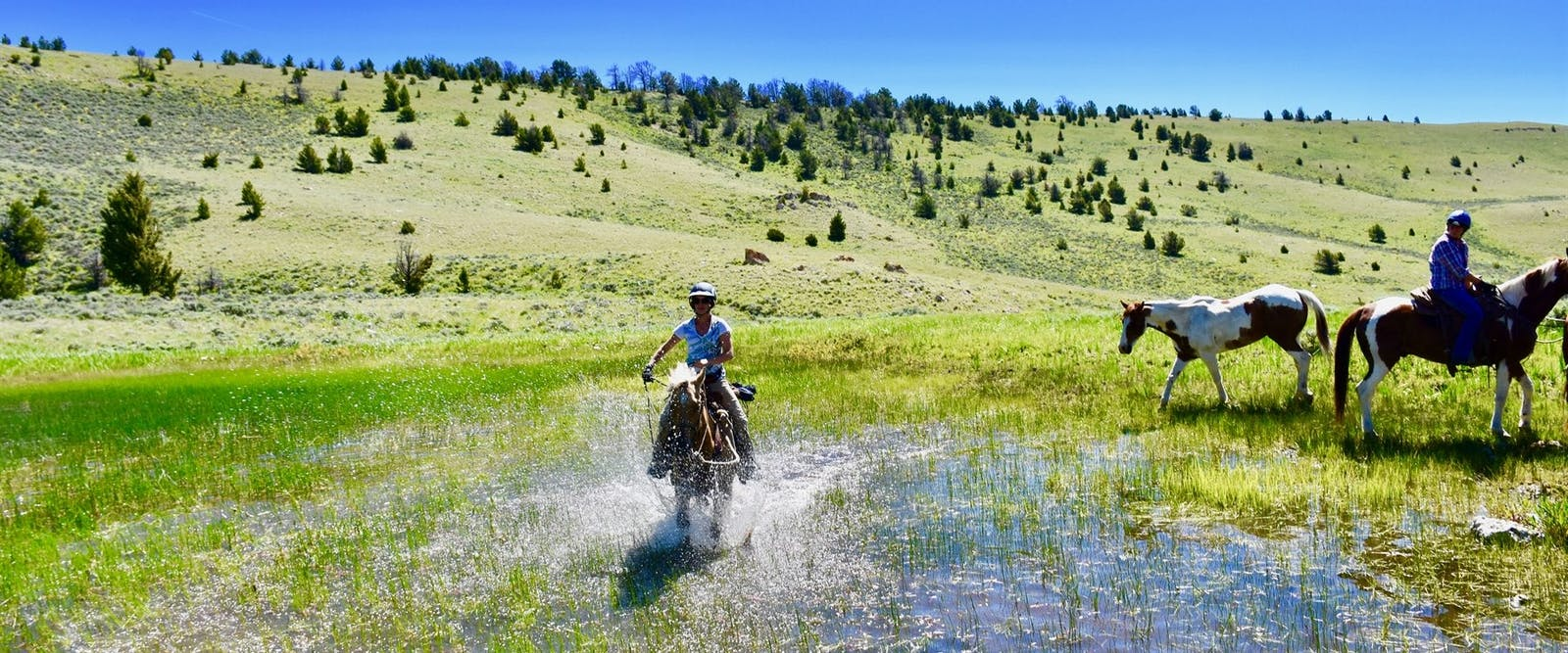 Riding at Medicine Lodge Horse Drives at Silver Spur Ranch