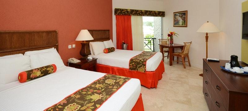 Double bedroom at Coyaba Beach Resort, Grenada