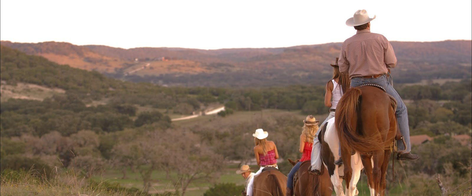 Riding Across The Hills At Dixie Dude Ranch