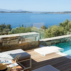 Private Pool at Eagles Villas, Halkidiki, Greece
