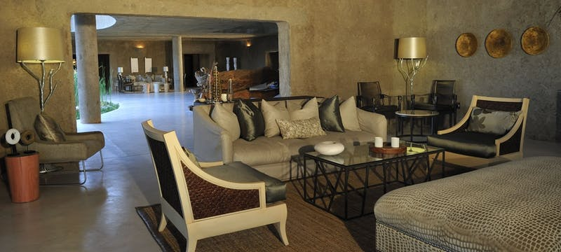 Safari Lounge at Sabi Sabi Earth Lodge, South Africa