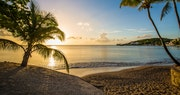 Picturesque beach at East Winds, St Lucia