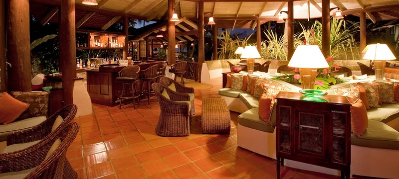 Lounge area at East Winds, St Lucia