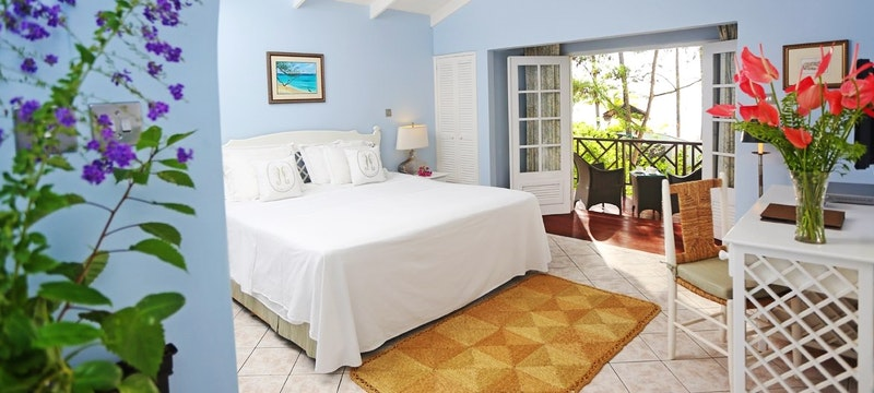 ocean view bedroom at east winds st lucia
