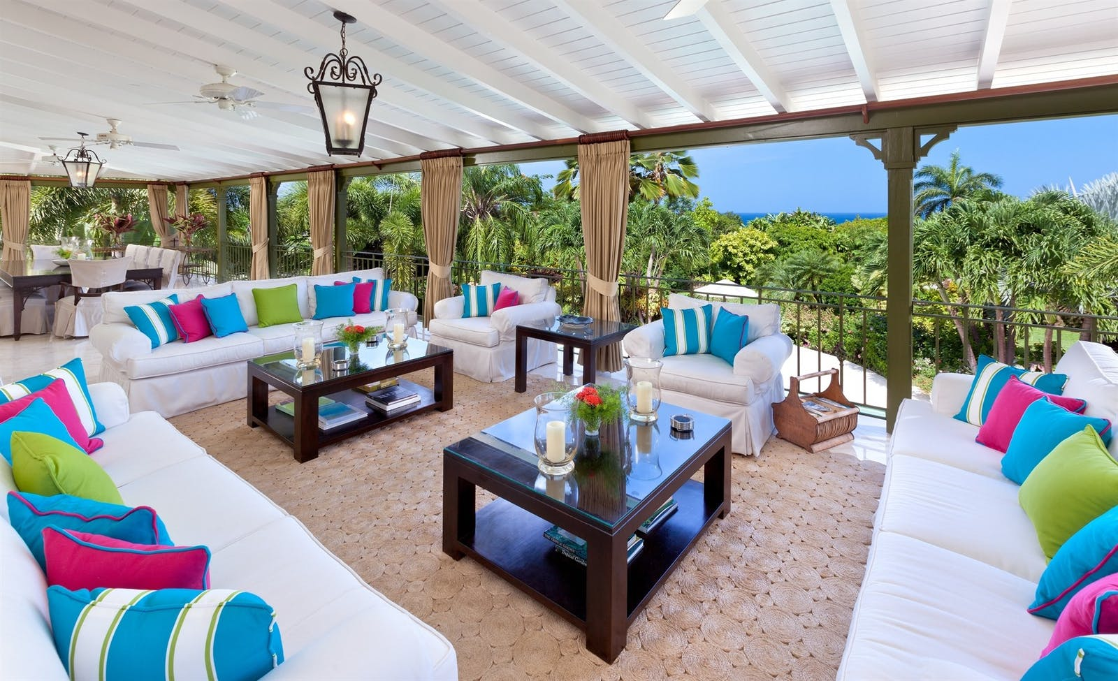 patio at eden villa sugar hill barbados