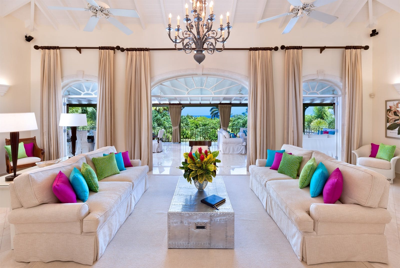 living room at sugar hill eden villa barbados
