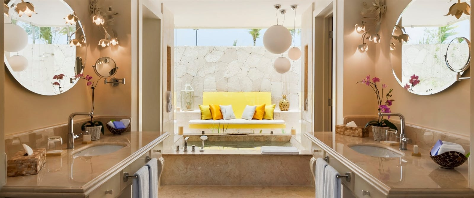 Coral Stone Bathroom with Marble Jacuzzi at Eden Roc at Cap Cana Boutique Suites & Beach Club, Dominican Republic