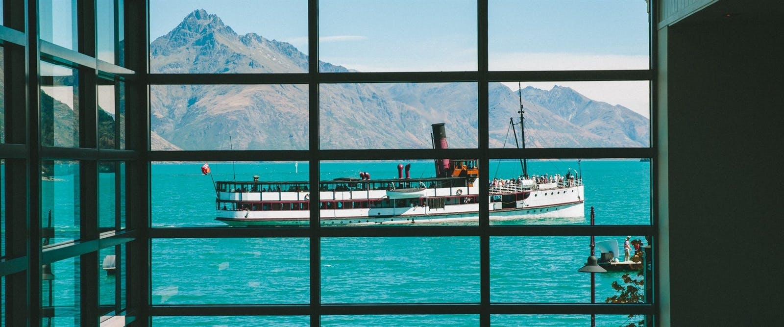 View from Eichardt's Private Hotel, New Zealand