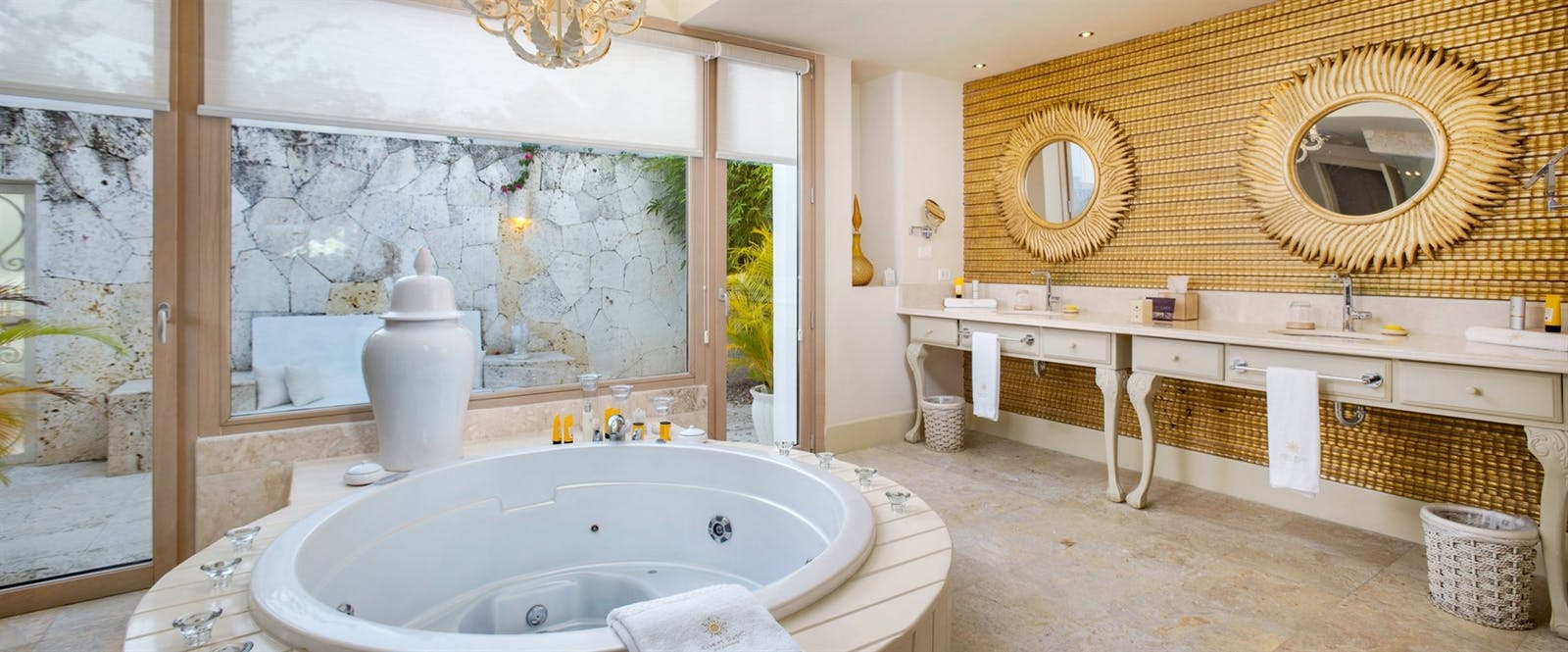 Four Bedroom Imperial Villa Master Bathroom at Eden Roc at Cap Cana Boutique Suites & Beach Club, Dominican Republic