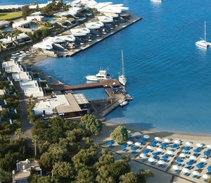 Overview of Elounda Beach Hotel & Villas. Crete, Greece