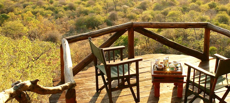 Multi-decked balcony at Elsa's Kopje, Kenya