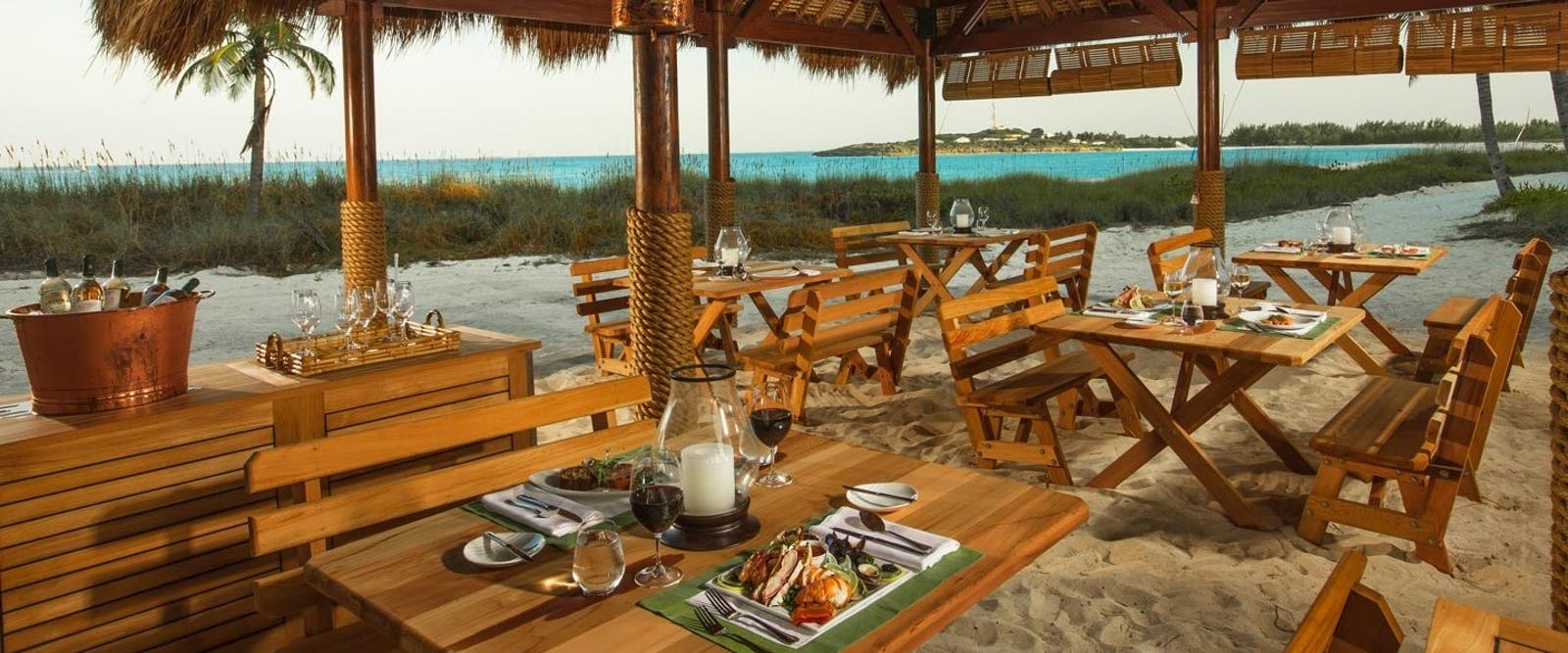 Barefoot By The Sea Restaurant at Sandals Emerald Bay Golf, Tennis & Spa Resort, Bahamas, Caribbean