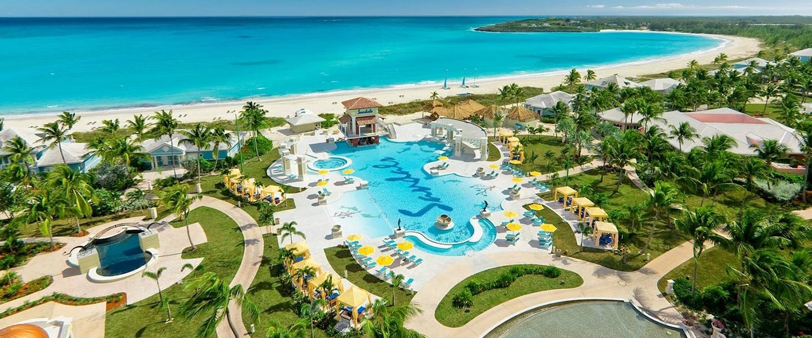 Swimming Pool at Sandals Emerald Bay Golf, Tennis & Spa Resort, Bahamas, Caribbean