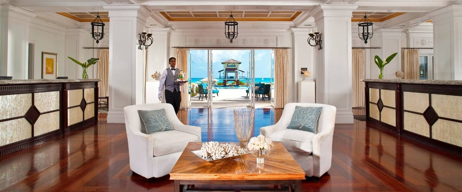 Lobby at Sandals Emerald Bay Golf, Tennis & Spa Resort, Bahamas, Caribbean