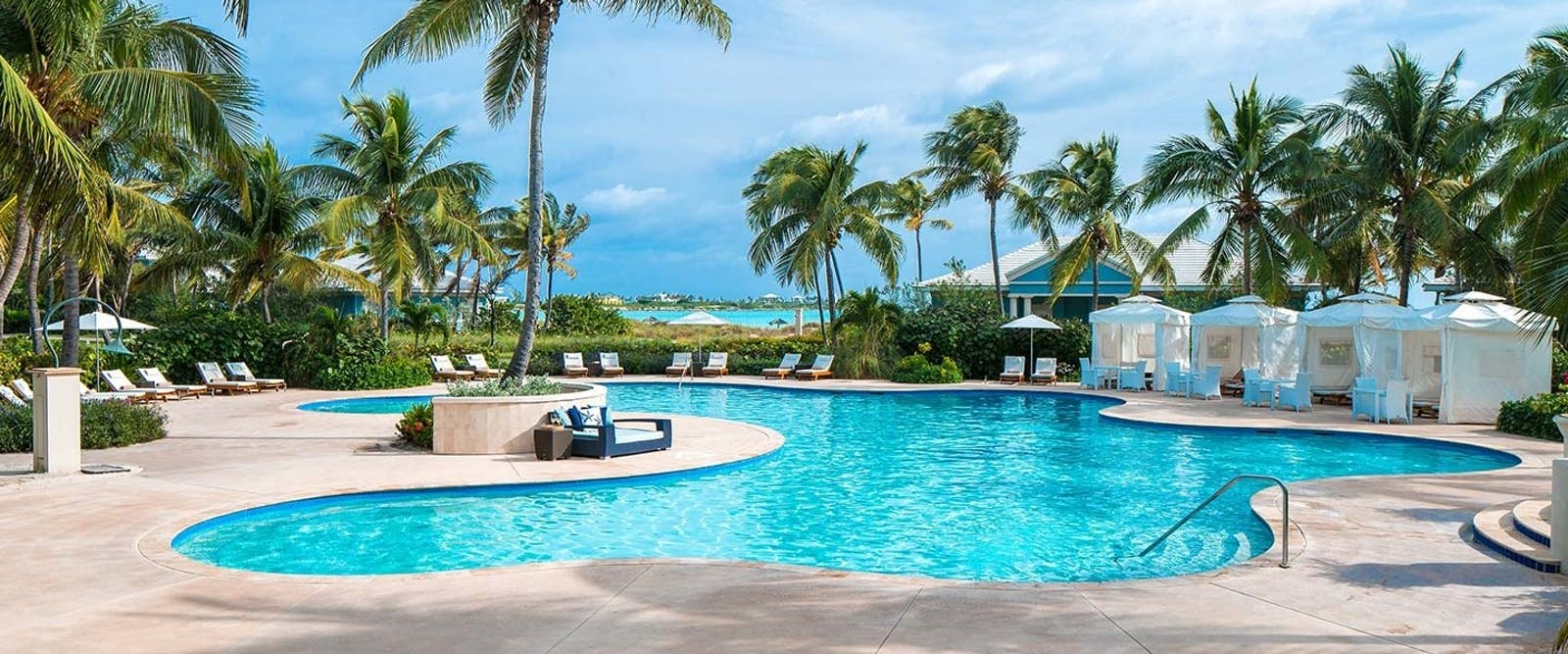 Pool Area at Sandals Emerald Bay Golf, Tennis & Spa Resort, Bahamas, Caribbean