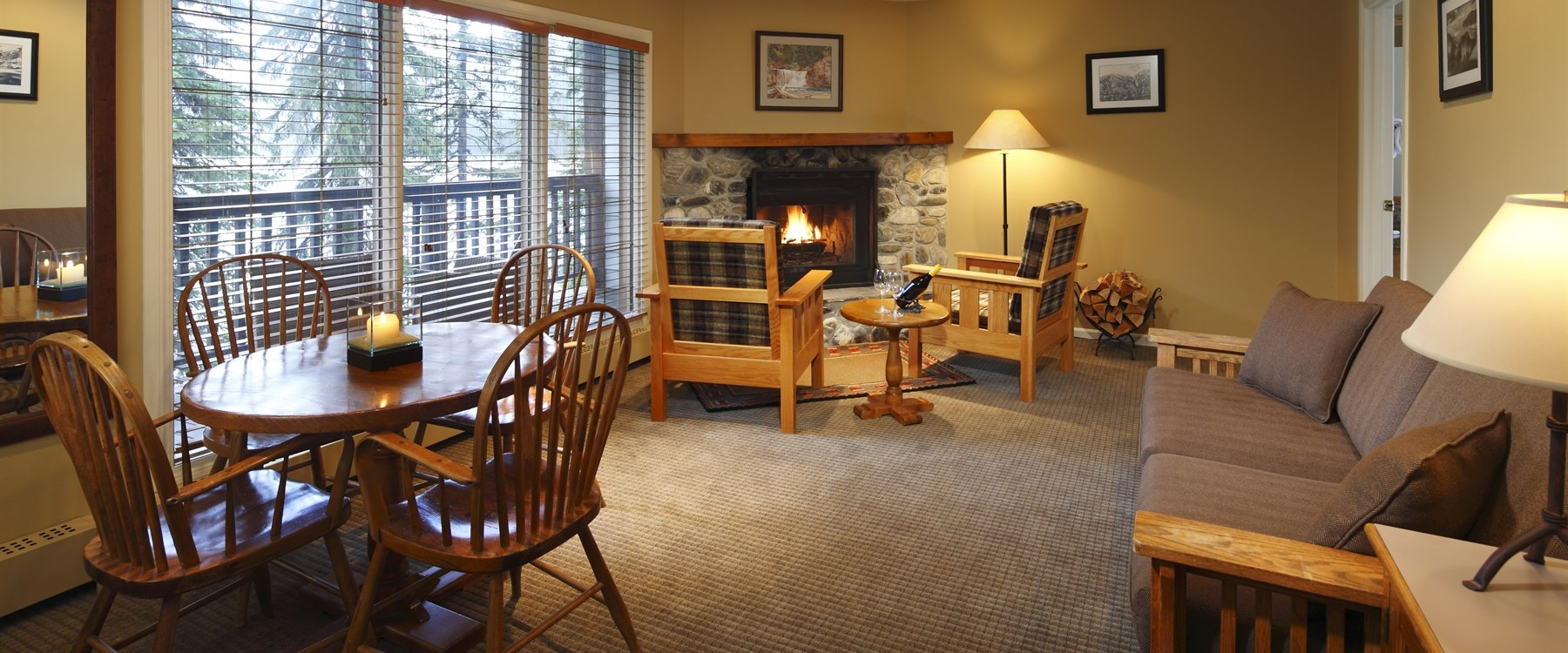 Living Room at Emerald Lake Lodge