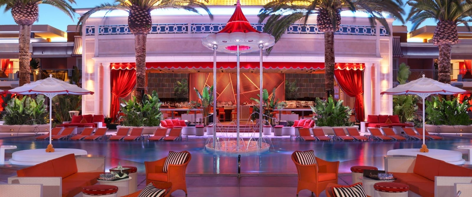 Beach Club at Night at Encore At Wynn Las Vegas