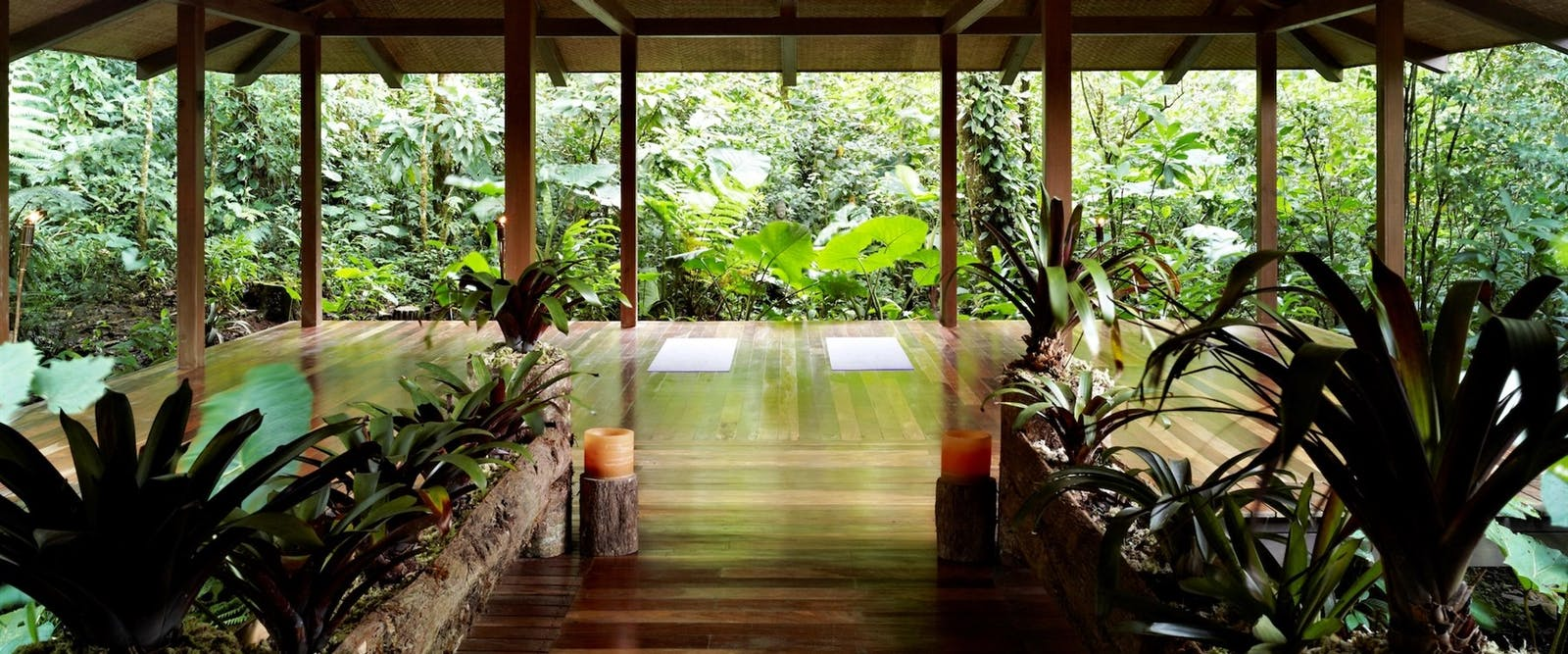 Yoga and spa deck, El Silencio Lodge, Costa Rica