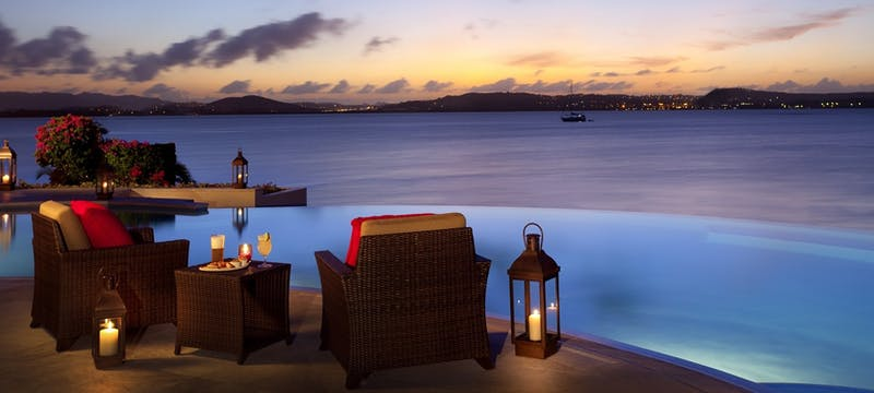 pool grille sunset at jumby bay a rosewood resort antigua