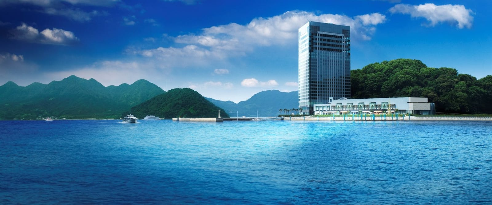 Exterior of Grand Prince Hotel Hiroshima, Japan