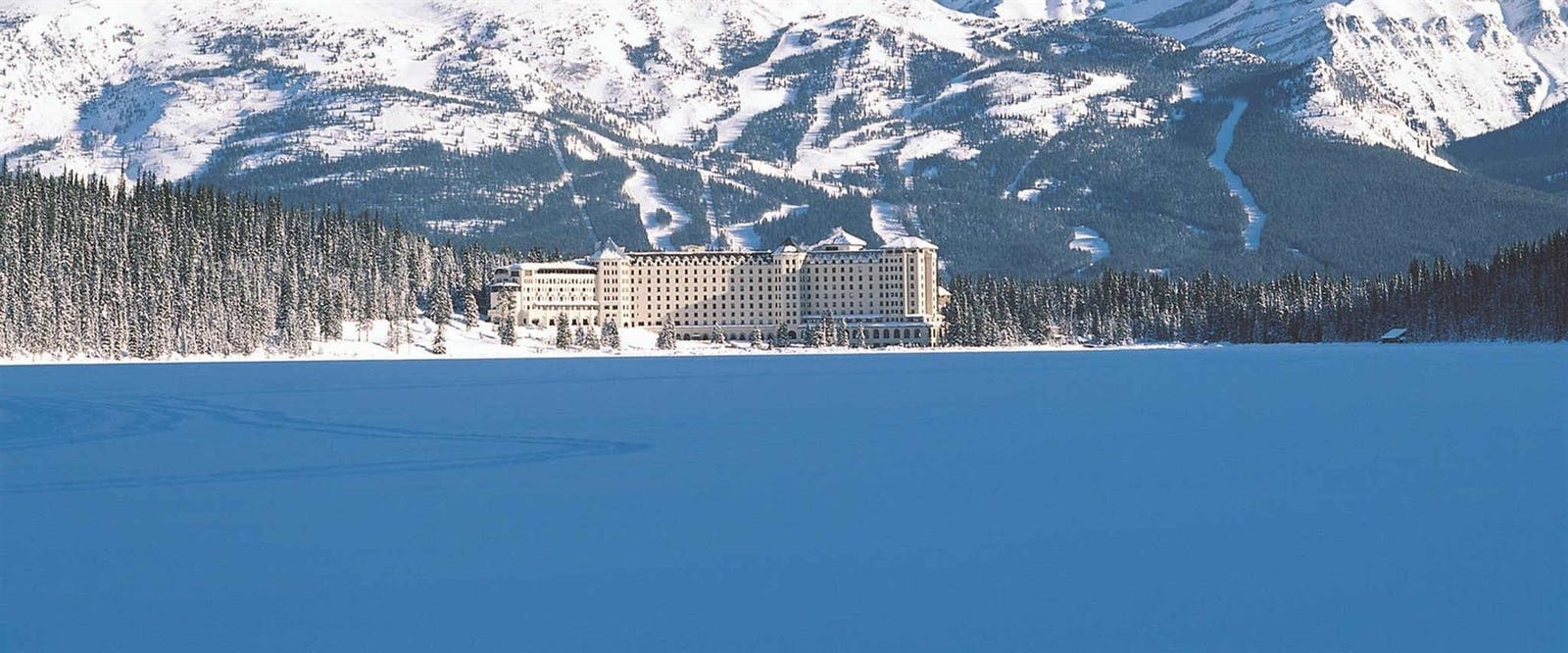 Exterior of Fairmont Chateau Lake Louise, Alberta