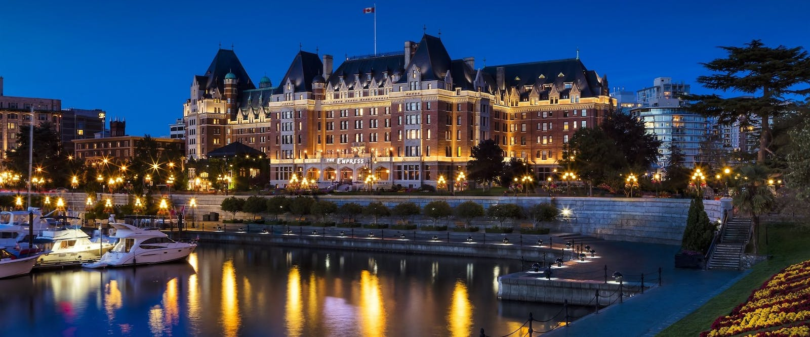 Exterior Night View of Fairmont Empress