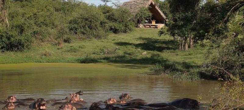 Exterior view of &Beyond Grumeti Serengeti Tented Camp