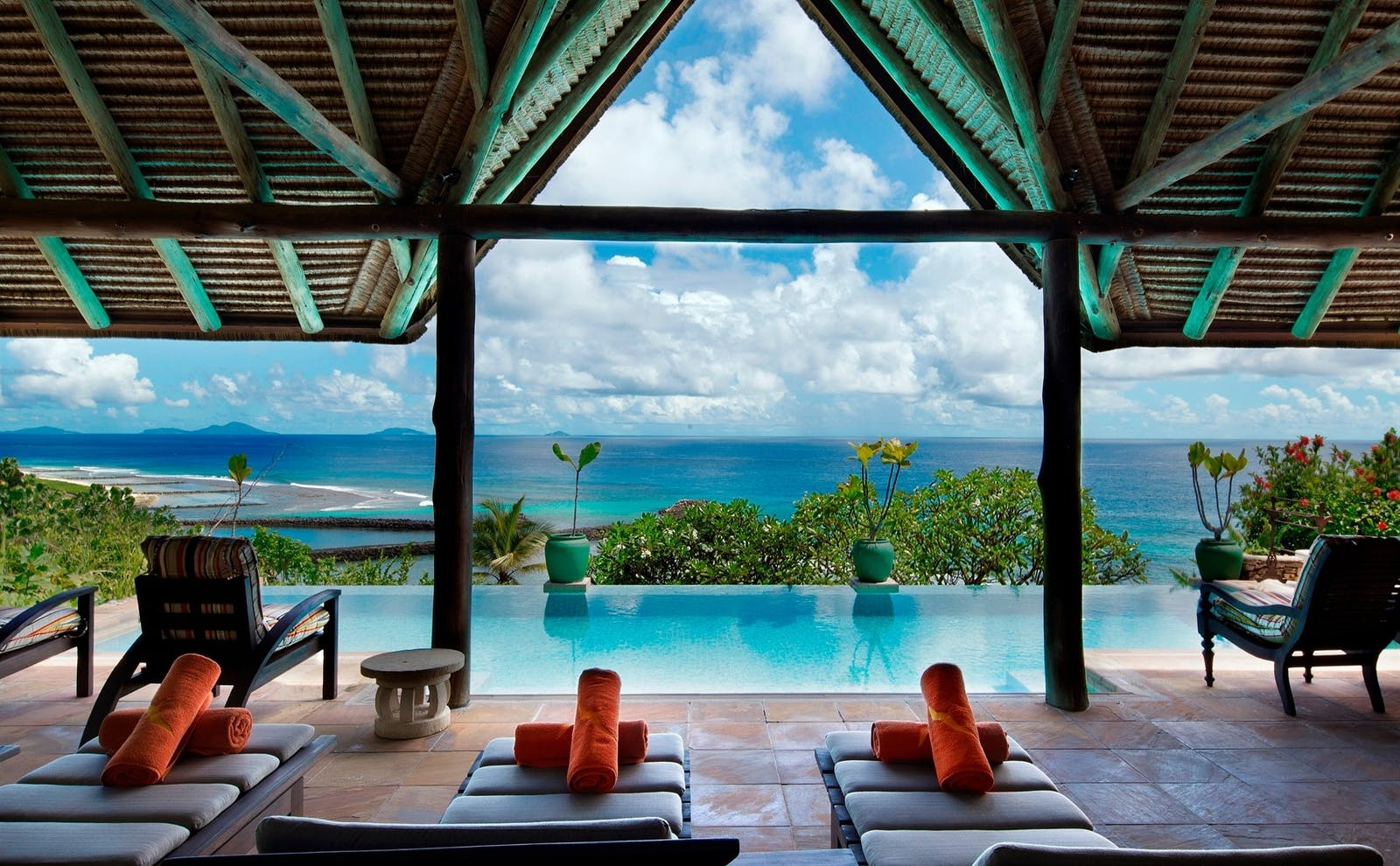 Banyan Hill Estate Swimming Pool, Fregate Island Private, Seychelles