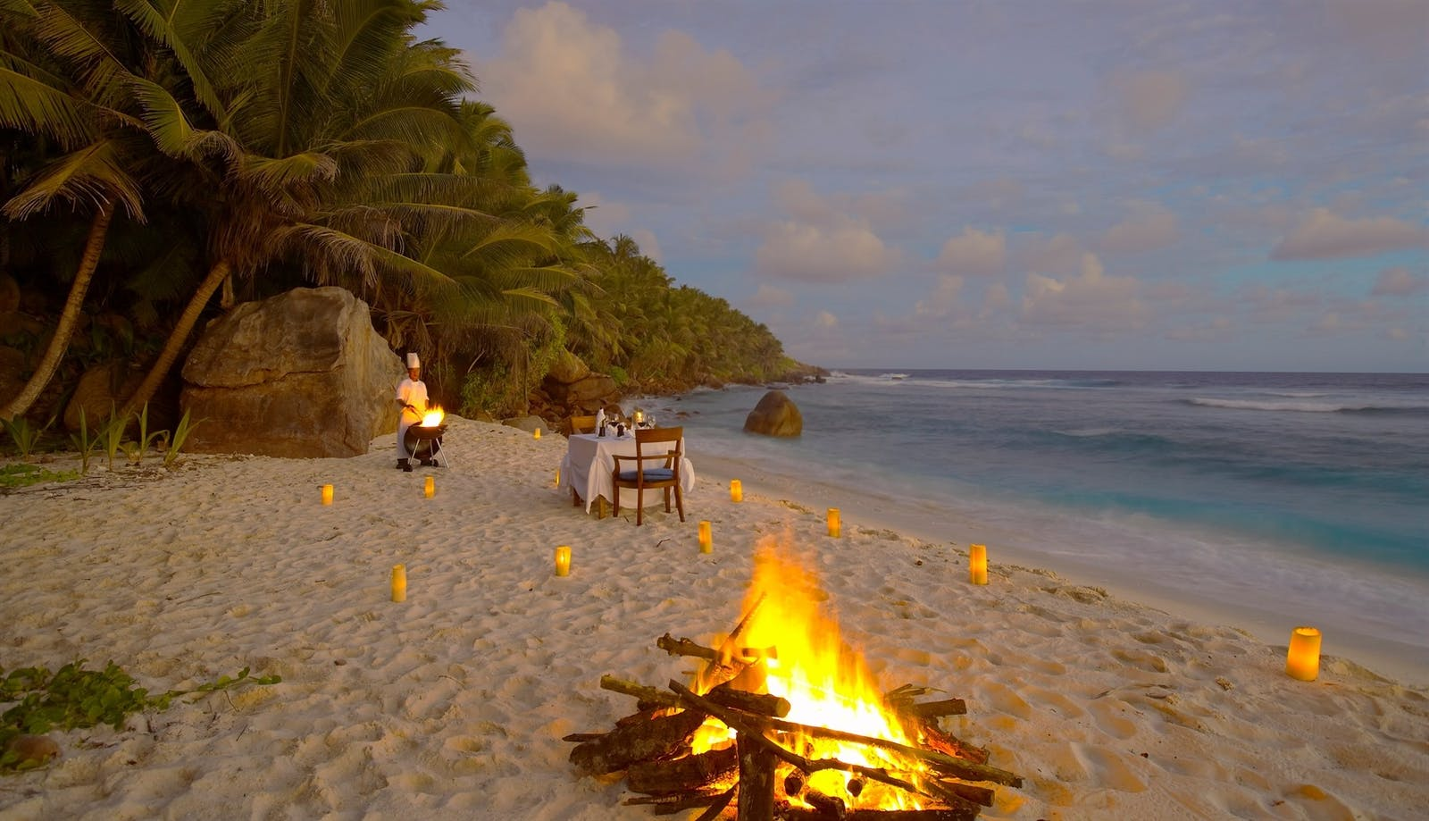 Beachside Dining, Fregate Island Private, Seychelles