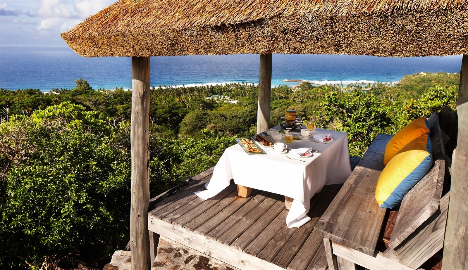 High Tea Dining, Fregate Island Private, Seychelles