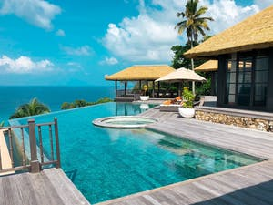 Twin Villa Patio, Fregate Island Private, Seychelles