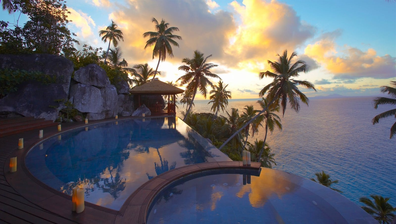 Twin Villa Swimming Pool, Fregate Island Private, Seychelles