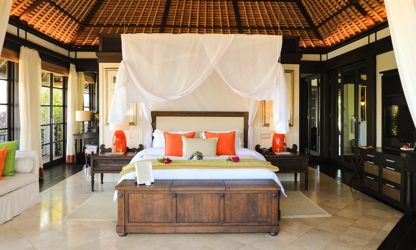 Villa Bedroom, Fregate Island Private, Seychelles