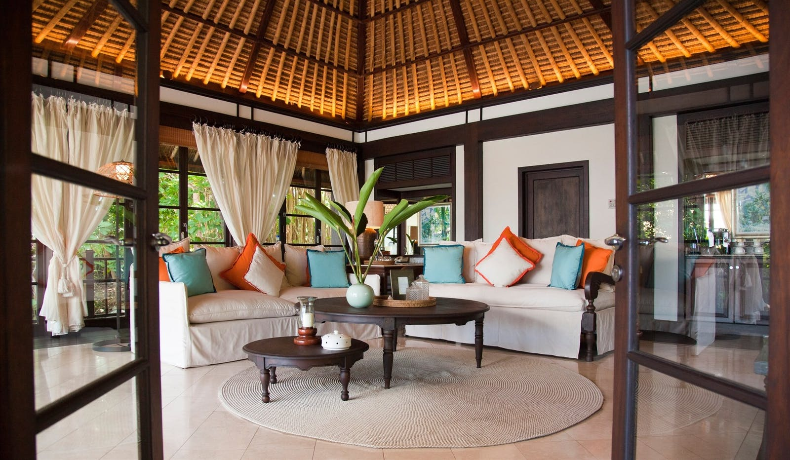 Villa Living Room, Fregate Island Private, Seychelles