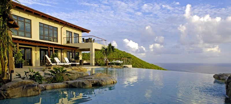 Exterior of Falcon's Nest at Peter Island Villa Estates, British Virgin Islands