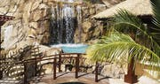 Waterfall within Falcon's Nest Villa at Peter Island Resort & Spa, British Virgin Islands