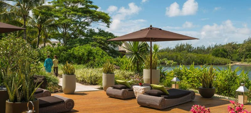 Sun loungers at Four Seasons Resort Mauritius at Anahita
