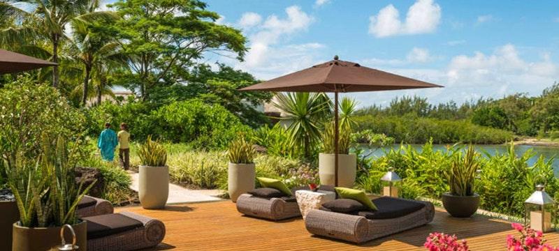Sun loungers at Four Seasons Resort Mauritius at Anahita