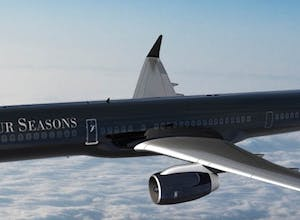 Four Seasons celebrates new branded jet