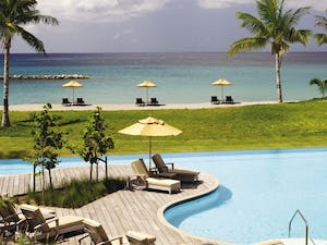 pool area at four seasons resort nevis
