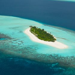 Aerial View of Four Seasons Private Island Maldives at Voavah