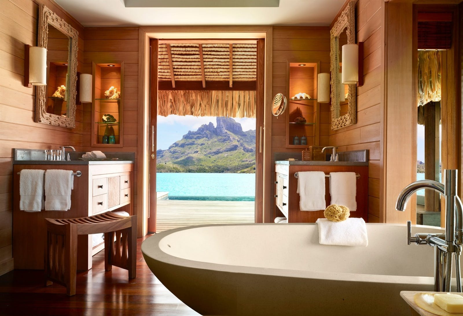 Bathroom at Four Seasons Bora Bora Resort, French Polynesia