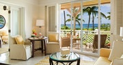 Living room in the plantation suite at Four Seasons Resort Nevis