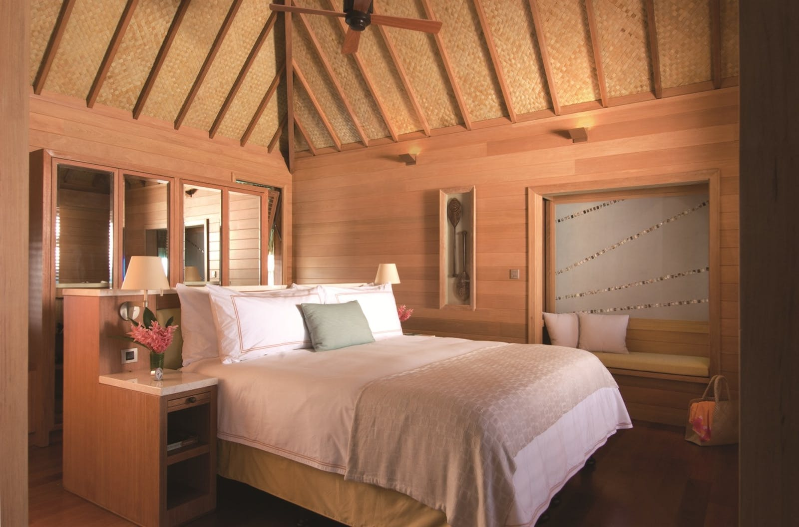 Bedroom at Four Seasons Bora Bora Resort, French Polynesia