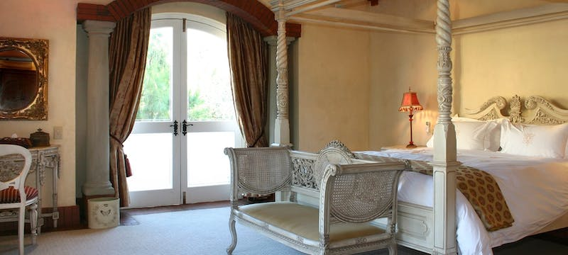 Villa suite bedroom at Franschhoek Country House and Villas