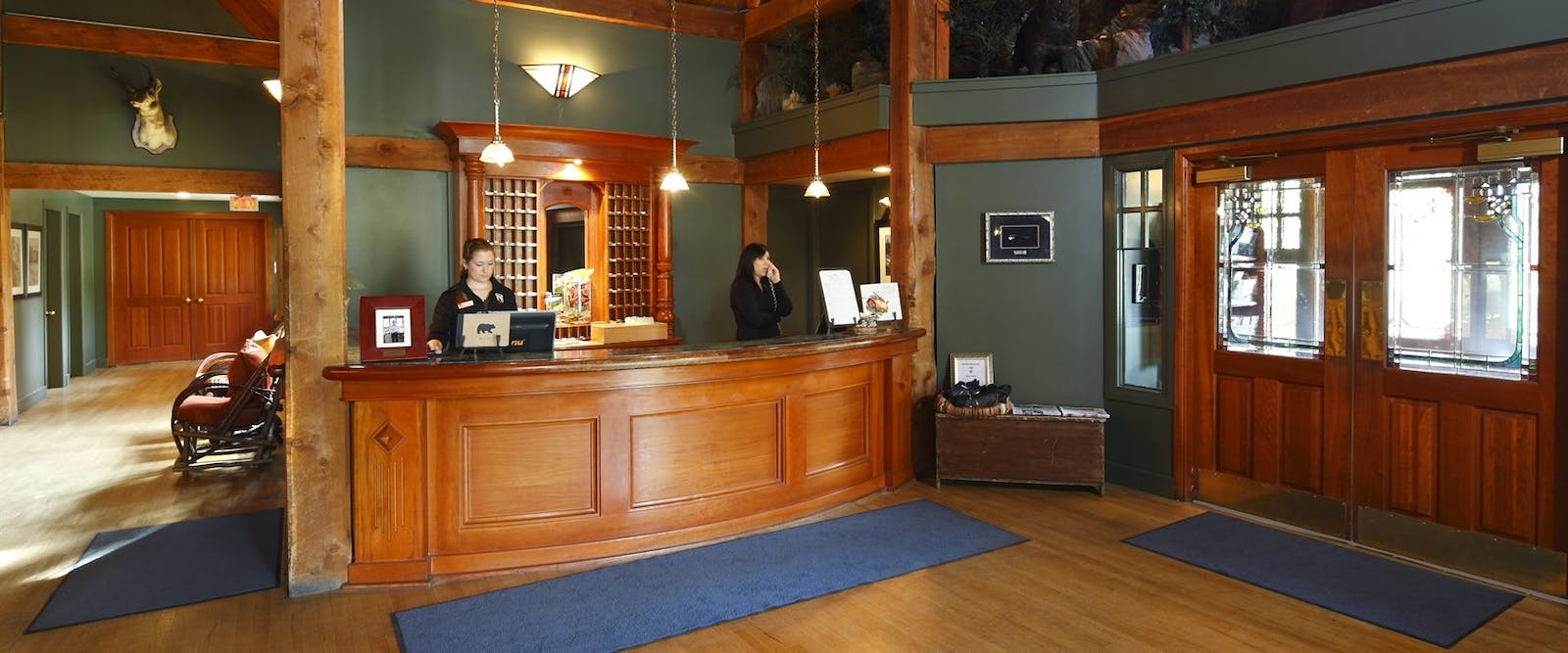 Front Desk at Buffalo Mountain Lodge