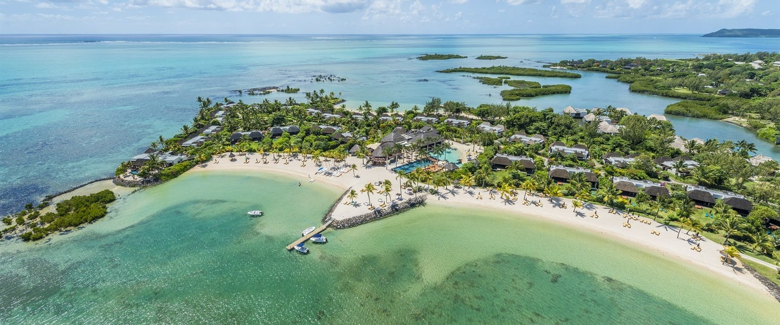Aerial view of Four Seasons Resort Mauritius at Anahita