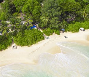 Aerial view of Four Seasons Resort Seychelles